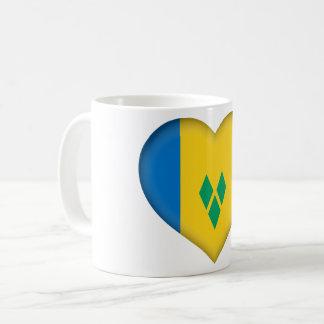 Taza De Café Bandera de San Vicente y las Granadinas