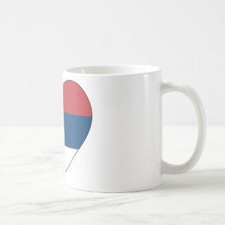 Taza De Café Bandera de Serbia simple