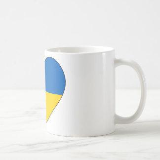 Taza De Café Bandera de Ucrania simple
