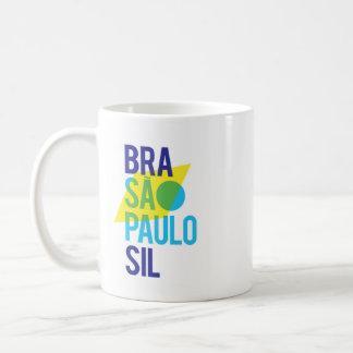 Taza De Café Bandera del Brasil São Pablo