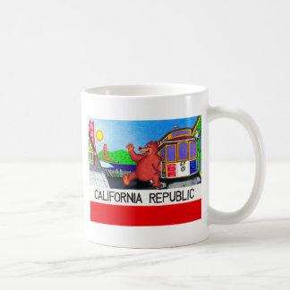 Taza De Café Bandera del oso de San Francisco California
