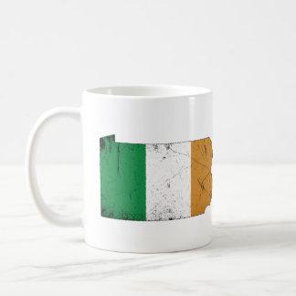 Taza De Café Bandera irlandesa sobre Pennsylvania