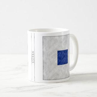 Taza De Café Bandera marítima de la señal náutica de la