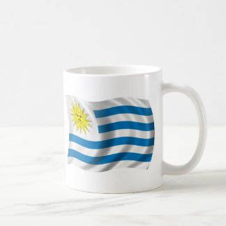 Taza De Café Bandera ondulada de Uruguay