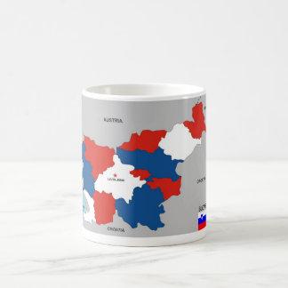 Taza De Café bandera política del mapa del país de Eslovenia
