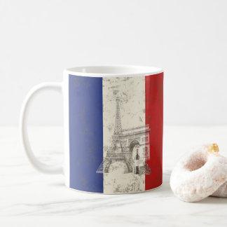 Taza De Café Bandera y símbolos de Francia ID156