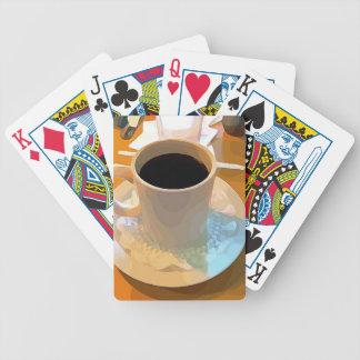 Taza de café baraja de cartas bicycle