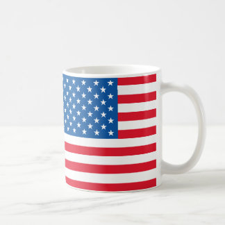 Taza De Café Barras y estrellas de la bandera de los E.E.U.U.
