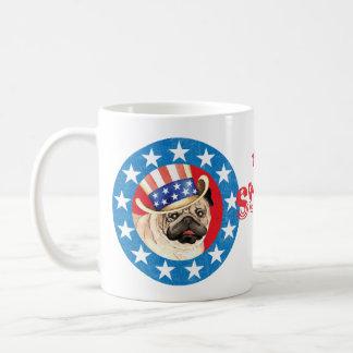 Taza De Café Barro amasado patriótico