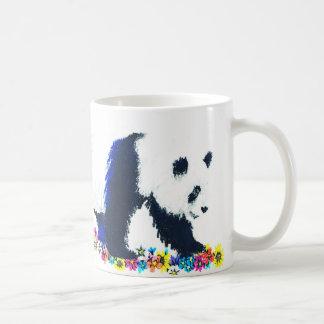 Taza De Café Barro amasado y panda