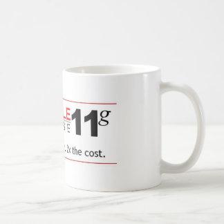Taza De Café Base de datos 11g del obstáculo