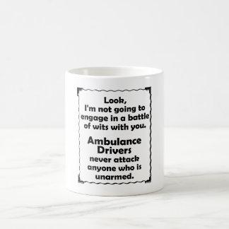 Taza De Café Batalla del conductor de la ambulancia de los