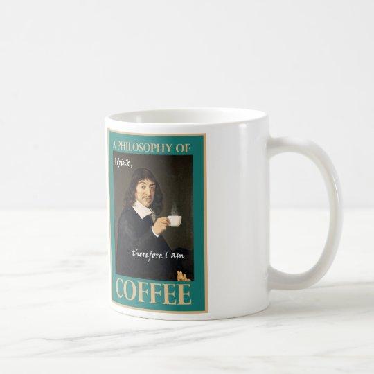 Taza De Café Bebo, por lo tanto estoy