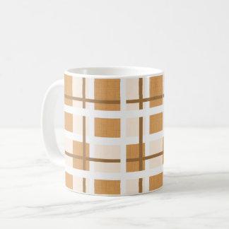 Taza De Café Beige y cuadrados de Brown
