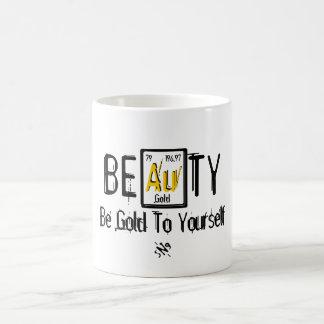 Taza De Café Belleza (sea el oro a sí mismo)