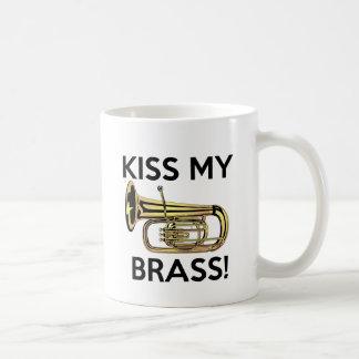 Taza De Café Bese mi latón, tuba