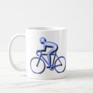 Taza De Café Bicicleta que compite con en azul
