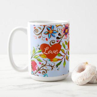 Taza De Café Bígaro del amor del Wildflower