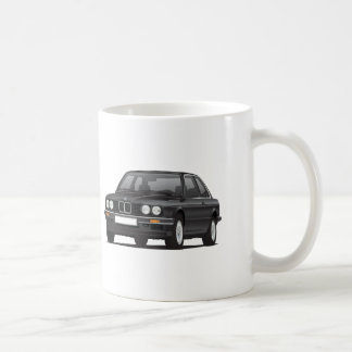 Taza De Café BMW 3 series, E30, ejemplo, negro