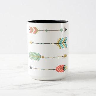 Taza de café bohemia colorida del gráfico el | de