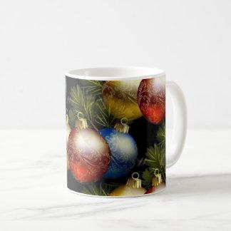 Taza De Café Bolas hermosas del navidad con diseño delicado