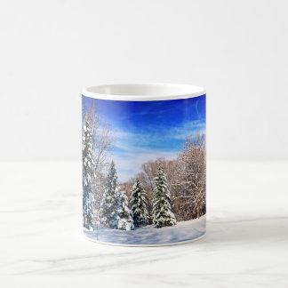 Taza De Café Bosque del invierno