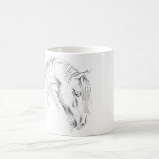 Taza De Café Bosquejo del caballo