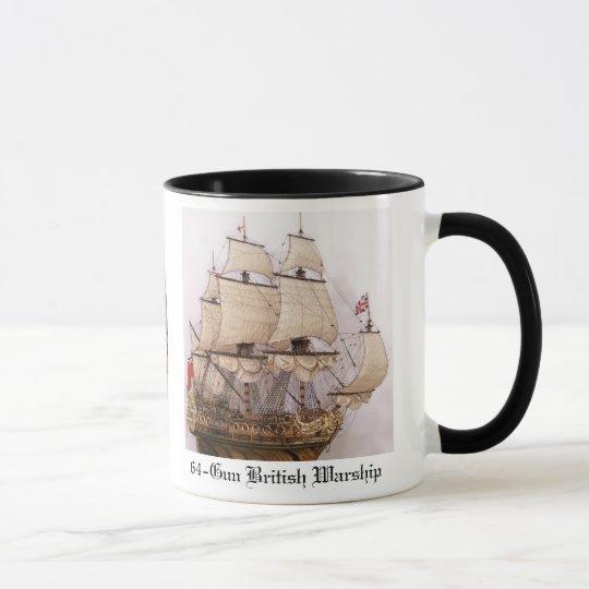 Taza de café británica del buque de guerra