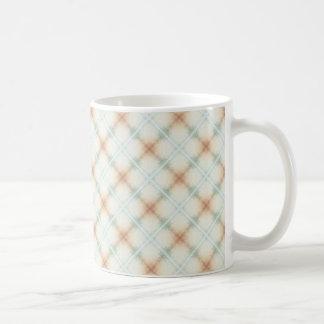 Taza De Café Brown en colores pastel y modelo retro azul