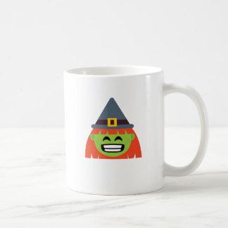 Taza De Café bruja todo el Emoji Halloween