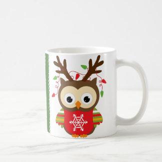 Taza De Café Búho del navidad