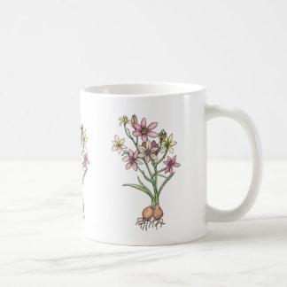 Taza De Café Bulbos florecientes en tonos silenciados de rosas