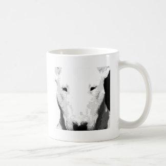 Taza De Café Bull terrier blanco y negro