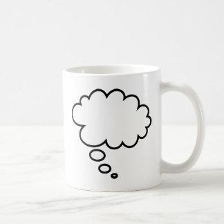 Taza De Café ¡Burbuja del pensamiento - añada su propio texto!