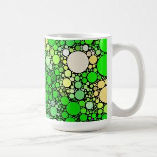 Taza De Café Burbujas de Zazzy, verdes