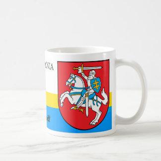 Taza De Café Caballero con el escudo de armas Lituania de la