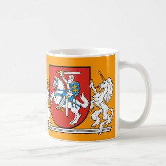 Taza De Café Caballero medieval con el escudo de armas de