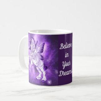 Taza De Café Caballo con alas hada de Clydesdale de la fantasía