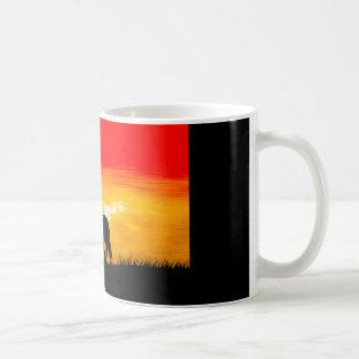 Taza De Café caballo de la puesta del sol