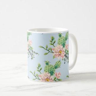 Taza De Café Cactus floral de la primavera