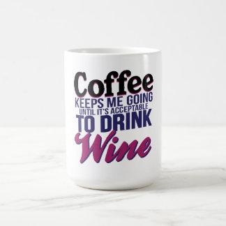 Taza De Café Café hasta que sea aceptable beber el vino