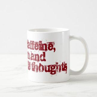 Taza De Café Cafeína y pensamientos inadecuados