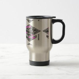 Taza de café caliente de graduación de la