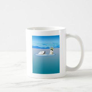 Taza De Café Cambio de clima: Oso polar que se hunde