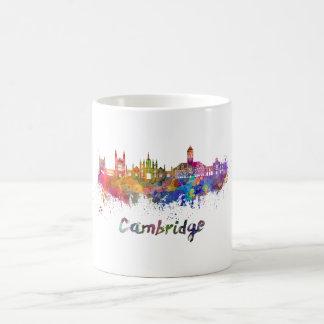 Taza De Café Cambridge skyline in watercolor