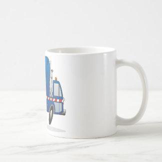 Taza De Café Camión azul de la basura