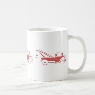 Taza De Café Camión de camión de auxilio rojo retro