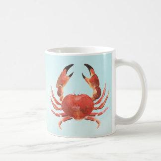 Taza De Café Cangrejo costero náutico de los mariscos