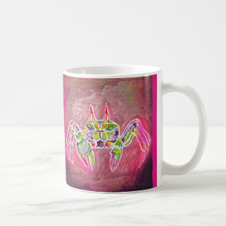 Taza De Café Cangrejo del fantasma en rosa