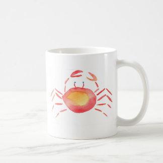 Taza De Café Cangrejo rojo y amarillo